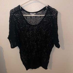 Cotton On mid sleeve length black top